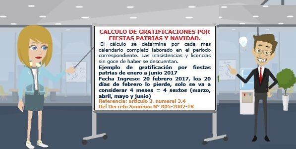 CALCULO DE GRATIFICACIONES