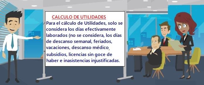 CALCULO DE UTILIDADES